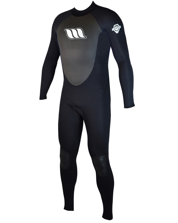 West Wetsuits - Enforcer Male Flatlock Steamer Black