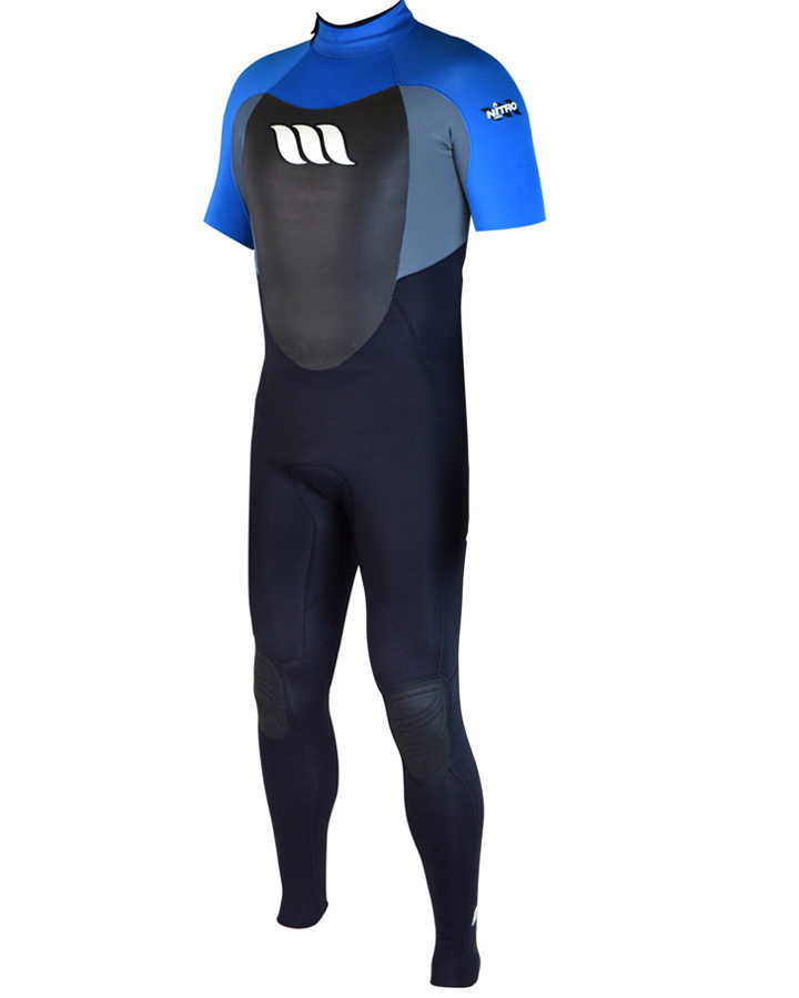 West Wetsuits - Nitro Male GBS S/S Steamer Blue