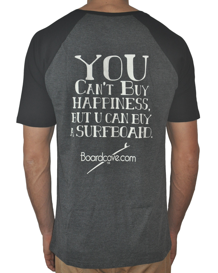 Boardcave - Can't Buy Happiness T Shirt Black